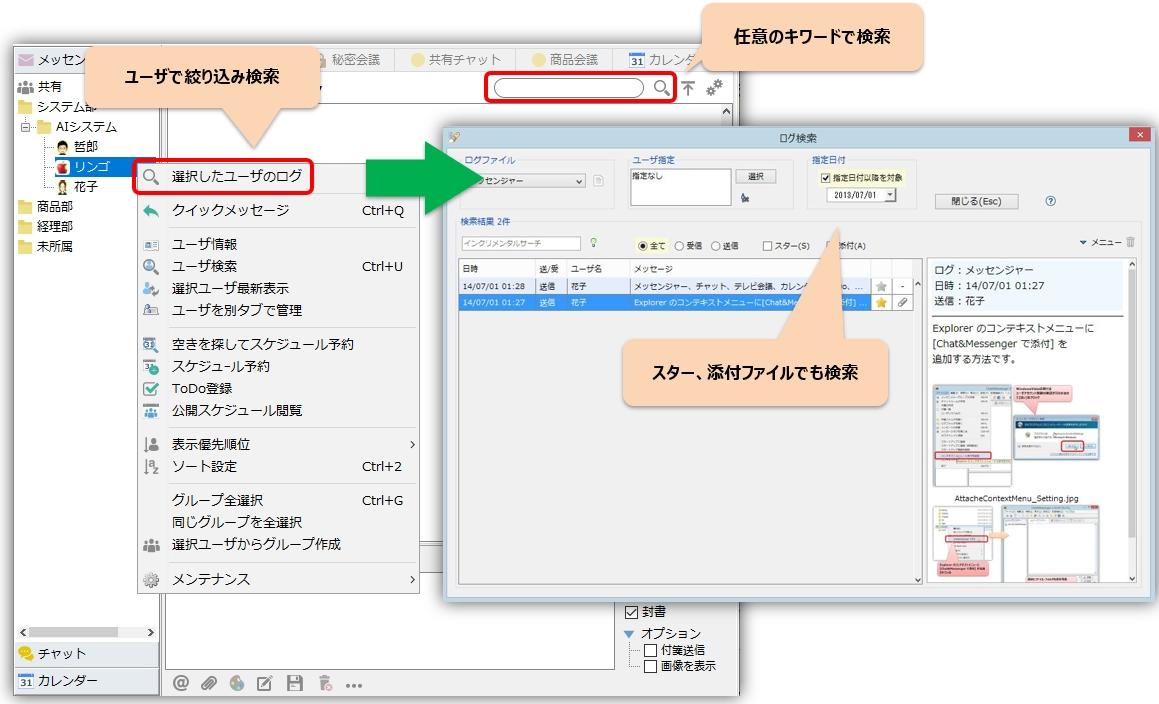 IP Messenger 形式のログ